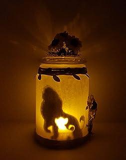 Luz quitamiedos el Rey Le/ón tarro de luz luminoso para habitaci/ón infantil Luz tenue decorativa