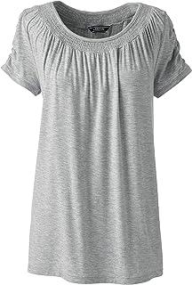 591bda9fb0 Lands' End T-Shirt mit Raffung für Damen perfekt für den Sommer