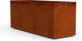 PLANTERCRAFT Corten Steel Planter, Long Rectangle Planter Box, 60