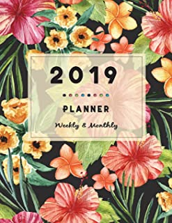2019 Weekly And Monthly Planner: Academic Notebook, Calendar Schedule Organizer and Journal, Hourly, Daily, Weekly, Monthl...
