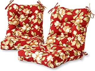 Greendale Home Fashions Outdoor Seat/Back Chair Cushion (set of 2), Roma Floral