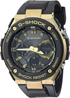 GSHOCK Men's Solar Powered Wrist Watch analog-digital Display and Resin Strap, GSTS100G-1A