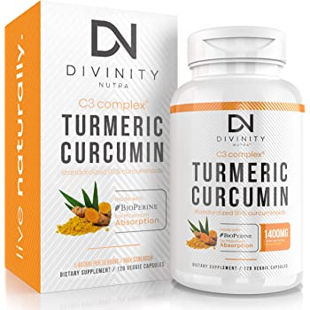 Turmeric Curcumin C3 Complex with BioPerine (Black Pepper Extract) - Anti-Inflammatory & Joint Support Supplement - Max Strength 95% Curcuminoids - 120 Veggie Capsules (2 Month Supply)