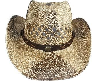 LiWen Zheng Punk Style Women Men Straw Western Cowboy Hat Summer Lady Cowgirl Fedora Jazz Hat Beach Sombrero Hombre Lifeguard Sun Hats