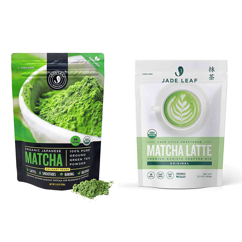 Jade Leaf Matcha Genuine + Latte Mix Tea - Bundle P Green Organic Bombing new work