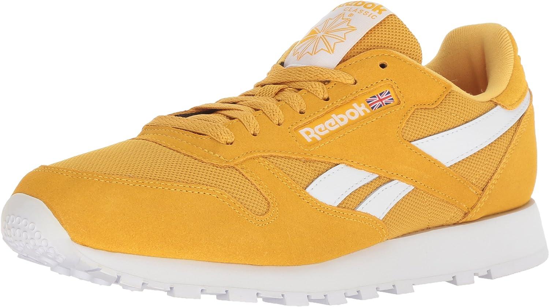 Reebok herrar Classic läder gående skor, Estl Estl Estl -Fierce guld  vit, 3.5 M USA  försäljning online