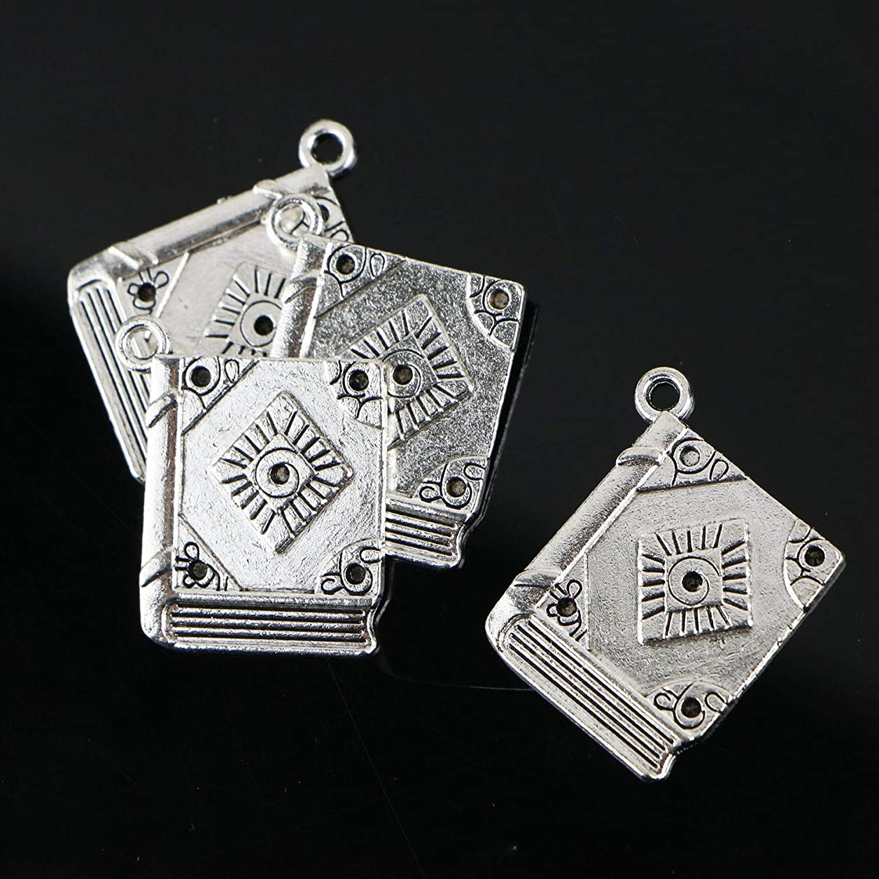 Monrocco 50Pcs Book Charms Jewelry Making Supply Pendant Bracelet DIY Crafting avczumbcfeiwrode