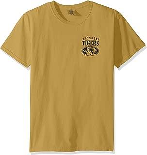 NCAA Missouri Tigers Adult NCAA Limited Edition Comfort Color Short sleeve T-Shirt,XL,Mustard