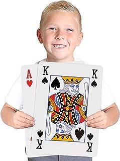 Kangaroo's Huge,  Jumbo Playing Cards (Giant 8-1/4 x 11-3/4 Deck of Cards)