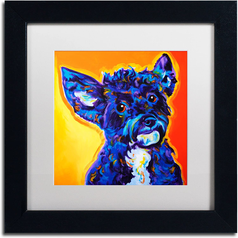 Trademark Fine Art Pebbles Artwork DawgArt in White Matte and Black Frame, 11 by 11Inch