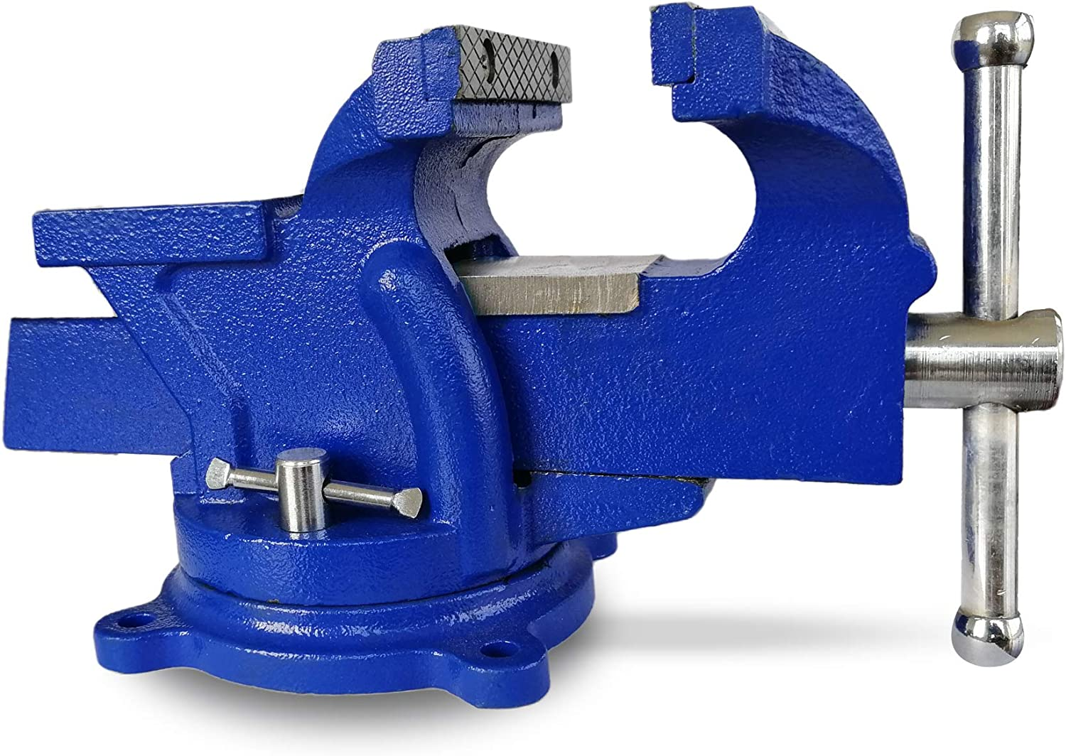LiusTech Bench Vise 5 Inch Heavy Duty 360-Degree Swivel Base and Anvil Bench Vice