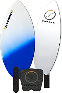 Fedmax Skimboard with Carbon Fiber Tips and Fiberglass Body Hybrid | with Traction Grip Set | Ultimate Tips Manual