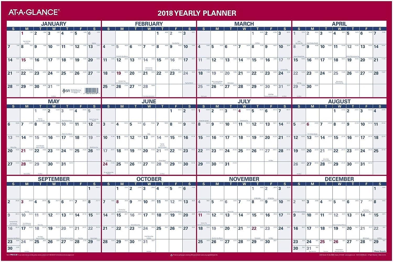 Einen Blick Blick Blick Jährliche Wandkalender, 61 x 91,4 cm reversibel, Grünikale, horizontale (PM21228) B071CZSKZF | Feine Verarbeitung  e0169d