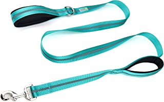 DCbark Dual Handle Lead, Double Padded Traffic Handle Dog Leash, Reflective Leash with 2 Comfortable Handles