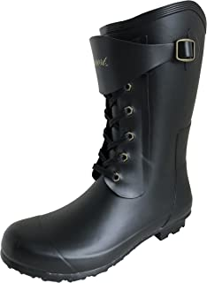 Amaort アマート メンズ レースアップ ブーツ 長靴 雨靴 通勤 アウトドア 親子 ファミリー 3色 AMT-1101