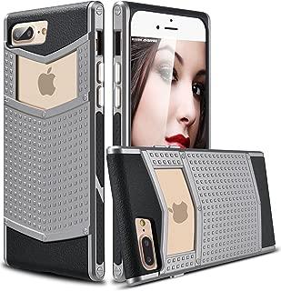 iPhone 8 Plus Case, iPhone 7 Plus Case, Ansiwee Anti-Slip Shockproof Armor iPhone 7 Plus Protective Defender Case Slim Fit Non-Slip Grip Rubber Bumper Case for iPhone 7/8 Plus 5.5 Inch (Gray)