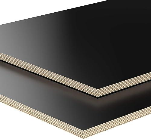 18mm Panneau de contreplaqué noir débité à 200cm en longueur panneaux multiplex revêtu en mélamine choix : 200x40 cm