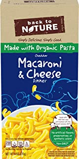 Back to Nature Macaroni & Cheese Cheddar Dinner, 6 oz Box