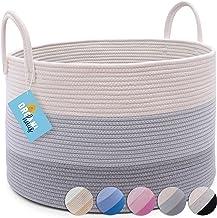OrganiHaus Canastas Organizadoras Extra Grande XXL – Elegante Cesta Decorativa de Cuerda con algodón 100% Natural y ecológ...
