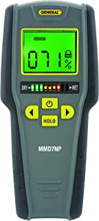 General Tools MMD7NP Moisture Meter, Pinless, Digital LCD with Tricolor Bar Graph (Renewed)