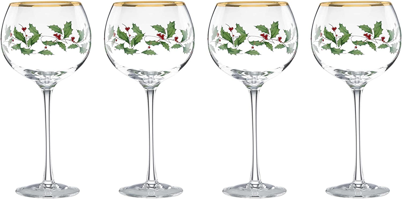 Lenox Holiday Balloon Glasses, Set of 4