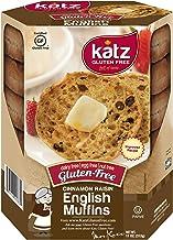 Katz Gluten Free Cinnamon Raisin English Muffins | Dairy, Nut and Gluten Free | Kosher (1 Pack of 4 Muffins, 11 Ounce)