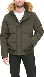 Men's Arctic Cloth Quilted Snorkel Bomber Jacket with...
