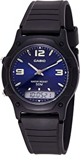 Casio Unisex-Adult Quartz Watch, Analog-Digital Display and Resin Strap AW-49HE-2A