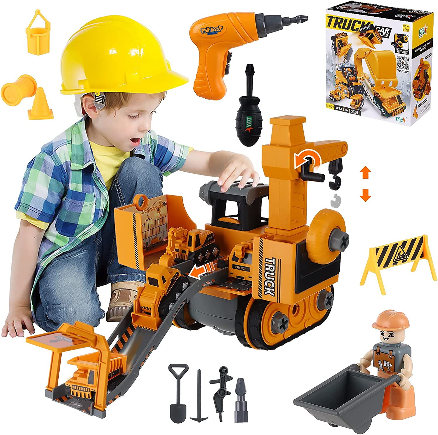STEM Toy Building Truck Toys Gifts for Age 9 3 8 Spring new work one NEW before selling ☆ after another 4 6 7 5 Year