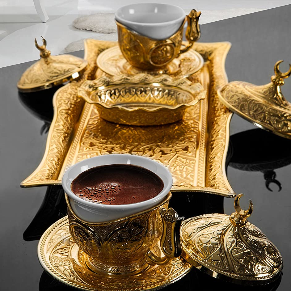 Ottoman-turkish-coffee-serving-set-espresso-latte-gaiwan-saucer-golden-colour