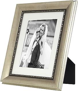 BD Tipo 20x 25cm Madera, Estilo clásico Fotos con paspartú (13x 18cm, Antiguo Plata
