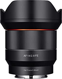 Samyang SYIO14AF-E 14mm F2.8 Full Frame Auto Focus Lens for Sony E-Mount, Black (Renewed)