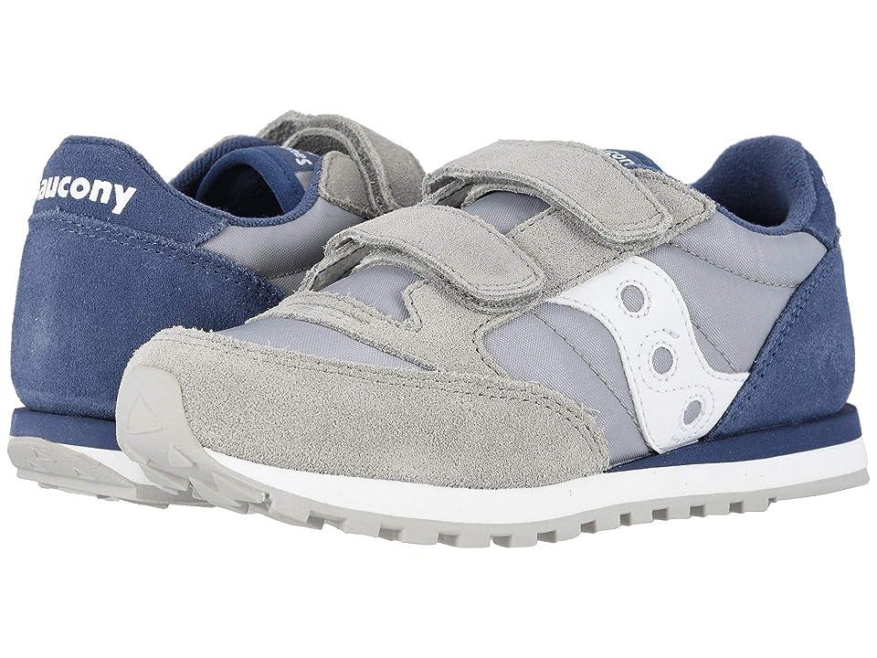 Saucony Kids Originals Jazz Double Hook Loop (Little Kid) (Grey/Blue) Boys Shoes