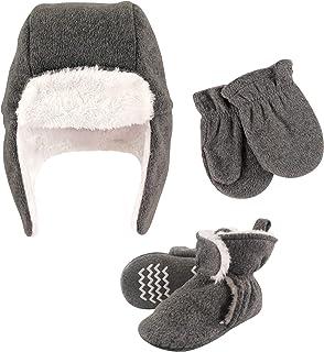 Hudson Baby Unisex czapka chwytakowa dla dzieci, zestaw rękawiczek i botków, wrzosowy węgiel drzewny, 12-18 miesięcy