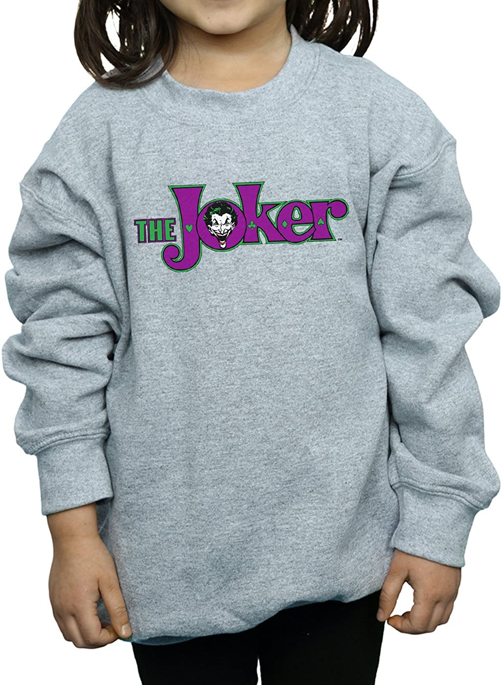 DC Comics Girls The Joker Text Logo Sweatshirt