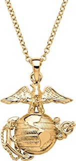 Military Pendant Necklace 14k Gold-Plated 20