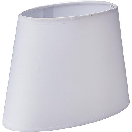 Sema 97117 Abat-Jour Ovale Base 20.5cm (pour douille E14) Blanc, Texture