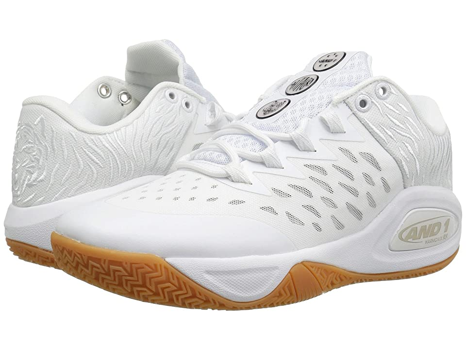 AND1 Attack Low (White/White/Gum) Men