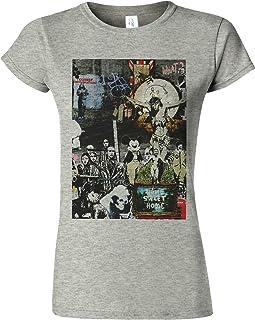Unisexe Noir Banksy Tag T-shirt Chemise Graffiti Culture Art Artwork
