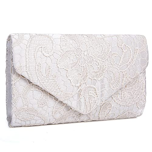 323666f56cd EULovelyPrice Women's Elegant Floral Lace Envelope Evening Bags And Clutches  Prom Handbag For Party
