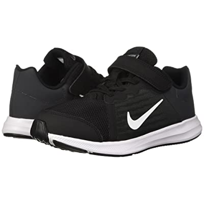 Nike Kids Downshifter 8 Wide (Little Kid) (Black/White/Anthracite) Boys Shoes