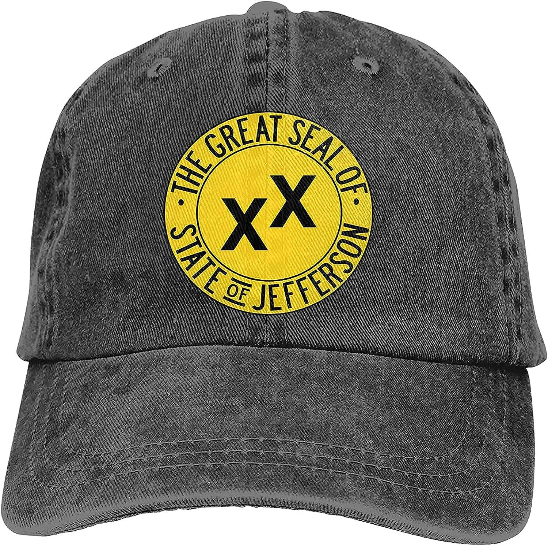 BGWORZD Jefferson State Flag Outdoor Men's Baseball Cap Sports and Leisure Adjustable Cowboy Hat Performance Cap Gray