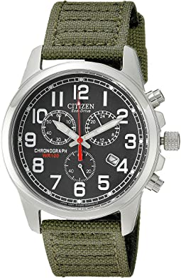 AT0200-05E Eco-Drive Chronograph Canvas Watch