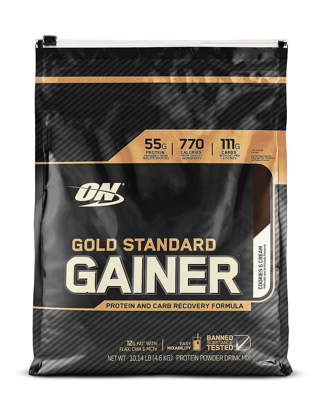 お嬢忠実に負担ゴールドスタンダード ゲイナー 10LB クッキークリーム (Gold Standard Gainer 10LB Cookies & Cream) [海外直送品]
