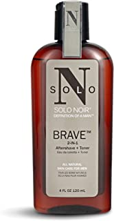 Solo Noir Brave All Natural Aftershave and Toner, 4 Ounce