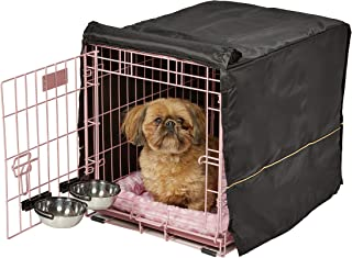 Pink Dog Crate Starter Kit | 24-Inch Dog Crate Kit Ideal for SMALL DOGS Weighing 13-25 Pounds | Includes 1 - Door Dog Crat...