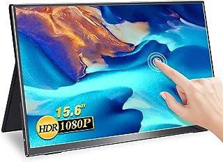 MISEDI モバイルモニター タッチパネル 15.6インチ モバイルディスプレイ ゲームモニター sRGB100%色域 薄型 軽量 広視野角/ウルトラスリムベゼル/フルHD USB Type-C/mini HD PS4/XBOX/Switch...