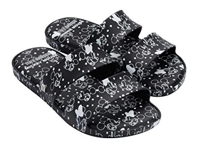Mini Melissa Color Pop + Mickey and Friends (Little Kid/Big Kid) (Black) Girl