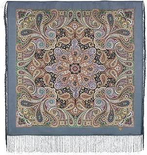 Authentic Russian Pavlovo Posad Shawl w/silk fringe #183601 (35