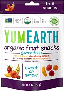 YumEarth Naturally Flavored Organic Fruit Snacks, 6 Count